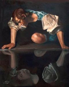 Narciso, de Caravaggio ((1571-1610)