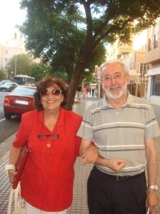 Editor y Autora en Cádiz el verano pasado