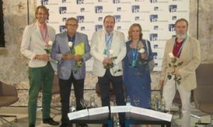 De izquierda a derecha: Stephan Fuetterer, Manuel Rico, Pedro de Andrés, Paula Izquierdo y Ramón Alba. © CEDRO.